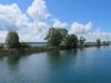 m Zihlkanal; Canale de Thielle; Einfahrt in den Neuenburgersee
