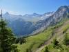 Sicht auf die Engstligenalp; Tschingellochtihorn 2735m, Chindbettihore 2691m, Tierhörnli 2894m, Steghorn 3146m, WIldstrubel; re Fitzer 2458m