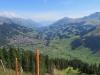 Sicht vom Höchsthore auf Adelboden; Ärmighorn 2742m, Howang 2591m, First 2549m, Bunderspitz 2546m