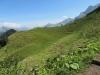 ein Blick zurück auf den Höhenweg;  Elsighorn 2341m, Howang 2591m, First 2549m, Almegrat 2521m, Bunderspitz 2546m, Chlyne Lohnder 2587m, Nünihorn 2171m