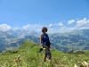 Marianne vor: Mittaghorn 2686m, Schnidenhorn 2937m, WIldhorn 3248m, Niesenhorn 2776m, Arpelihorn 2921m