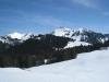 Sicht vom Hohberg 1485m: Ochsen 2188m,  Pkt. 2082m, Pkt. 2070m, Märe 2087m, Schibe 2151m, Pkt. 1987m