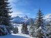 Winterstimmung auf der Alp Flix; Pkt. 2792m, Piz Platta, 3392m, Täligrat 3143m, Usser Wissberg 3053m, Piz Forbesch  3226m