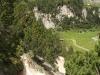 Pfad  duch weiches Gestein; unten Alp Pertusio