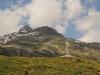 auf der Passhöhe; Piz Rondadura 3016m, davor Piz Scala 2741m