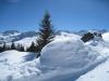 Winteridyll: Valbellahorn 2764m, Valbella Furgga 2554m, Sandhubel 2763m,  Schaffrügg, Schaftällihorn 2830m, Älpliseehorn 2725m, Gamschtäliihorn 2830m, Erzhorn 2924m