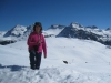 Marianne vor: Tiejer Flue 2781m, Furggahorn 2727m,  Maienfelderfutgga 2440m, Amselfluh 2768m, Schiesshorn 2605m