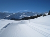 auf der Langlaufloipe; Älpliseehorn 2725m, Schaftällihorn 2830m, Gamschtäliihorn , Erzhorn 2924m , Aroser Rothorn 2980m,