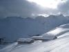 auf dem Weg nach Innerarosa; Schaftällihorn 2830m, Gamschtäliihorn  2830m , Erzhorn 2924m