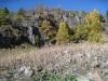 malerische Landschaft beim Abstieg