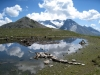 Undere Rossusee 2472m mit Tochtuhorn 2648m, Monte Leone  3552m , Simplon Breithorn, Hübschhorn 3192m
