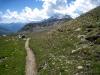 Blick zurück auf den Straffelgrat 2500m und Fletschhorn