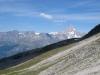 Sicht von der Üsseri Nanzlücke  2602m auf Rinderhorn, Balmhorn, Wilerhorn und  Bietschhorn