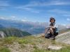 Marianne auf der Üsseri Nanzlücke  2602m mit Blick auf Bietschhorn