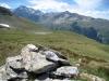 Blick auf den Straffelsee; Mattwaldhorn, Simelihorn, Ochsehorn und Ausläufer bis zum Gebidumpas