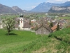 Blick auf Vilters und ins Rheintal