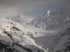 der Aletschgletscher mit Eggishorn