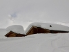 tief verschneite Alpe Bel