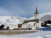 in Bellwald  1560m; die Kirche mit kl.Wannenhorn