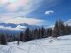 Abstieg durch den tiefen Schnee