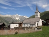 Kirche von Bellwald 1604m mit Wannenhörner