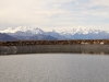 auf Bidmere 2473m Wasserbecken; Mischabelgruppe, Matterhorn, Weisshorn