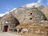 Sassal Mason 2355m; die Steinkegel, die Cröts und der Piz Palü  Ostgipfel 3882m