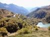 Blick hinuntr auf den Lago Palü, die Alp Grüm und das Puschlav