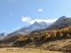 über den Berninapass; ein Blick zurück;Sassal Mason, hi Piz Caral,  Piz Cambrena, Piz d'Arlas