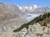 Aletschgletscher; Rotstock 3271m, Olmenhorn 3314m, Gross Grünhorn  4043m, Fiescherhörner, Gross Wannenhorn 3905m, Klein Wannenhorn 3706m, Strahlhorn 3026m