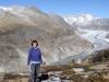 Marianne vor dem Aletschgletscher