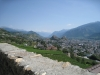 Bisse de  Mont d'Orge; le Châtelard 1272m,  Tourbillon 658m, Valère 621m