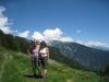 Bruni und Marianne oberhalb Anzère