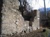 Ruine der Burg Mancapan, Sitz der Gf. von Mörel, wurde 1260 von Gf. Peter II. von Savoyen zerstört