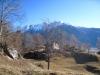 Plateau mit  Haus; Bättlihorn 2951m, Gross Huwetz 2923m, Füllhorn 2738m