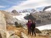 Marianne und Bruni bei Bruni  der Bovalhütte  2495m mit Pers Gletscher und Morteratsch Gletscher