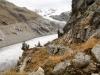 ein Blick zurück auf den alpinen Weg