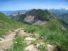 der Pfad hinauf zum Brienzer Rothorn; Schafnase 2011m, Rossflue  2073m, Arnihaggen 2291m, Höch Gumme 2205m