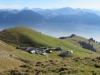 Blick hinunter auf Alp Breitenfeld; Gibel, Hasliberg,Hochstollen