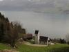 die Kirche St. Jost mit Niederbauen, Oberbauen, Schwalmis