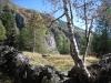 malerische Landschaft beim Aufstieg gegen die Burghütte