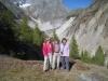 Brigitte, Hanspeter und Marianne vor dem kl. Wannenhorn und Fieschergletscher