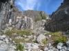 steiler Abstieg von der Burghütte (Leiter)