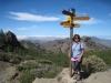 Marianne  auf dem Weg zum Roque Nublo