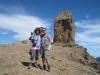 Marianne  und Bruni vor dem Roque Nublo