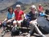 Rast auf dem Cruz de  Mogán; Marianne, Brigitte und Edith