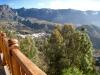 Sicht vom Hotel Tirajanas auf die Berge