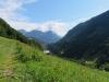 Blick talauswärts gegen die Tschugga 1881m und  den Gonzen 1881m
