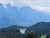 Sicht auf den Chapfensee ; mi Regitzerspitz; hi Glegghorn und Vilan