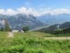 Blick von Schwarzensee Alphütten 1343m  auf Gonzen und Chapfensee